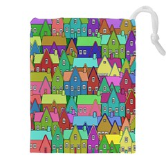Neighborhood In Color Drawstring Pouches (xxl) by Nexatart