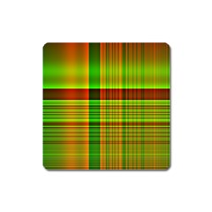 Multicoloured Background Pattern Square Magnet by Nexatart