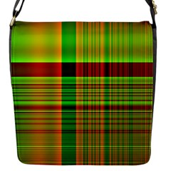 Multicoloured Background Pattern Flap Messenger Bag (s) by Nexatart