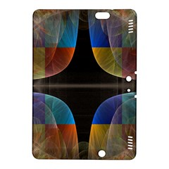 Black Cross With Color Map Fractal Image Of Black Cross With Color Map Kindle Fire Hdx 8 9  Hardshell Case