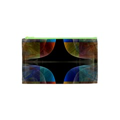Black Cross With Color Map Fractal Image Of Black Cross With Color Map Cosmetic Bag (xs) by Nexatart