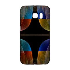 Black Cross With Color Map Fractal Image Of Black Cross With Color Map Galaxy S6 Edge by Nexatart