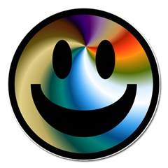 Simple Smiley In Color Magnet 5  (round) by Nexatart