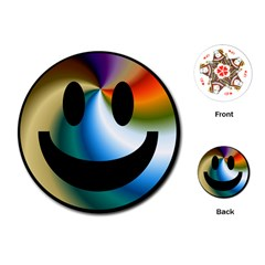 Simple Smiley In Color Playing Cards (round)  by Nexatart