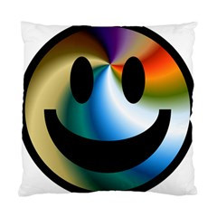 Simple Smiley In Color Standard Cushion Case (one Side) by Nexatart