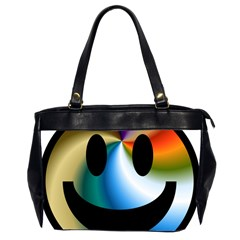 Simple Smiley In Color Office Handbags (2 Sides)  by Nexatart