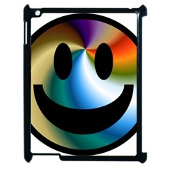 Simple Smiley In Color Apple Ipad 2 Case (black) by Nexatart