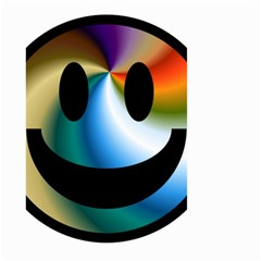 Simple Smiley In Color Large Garden Flag (two Sides) by Nexatart