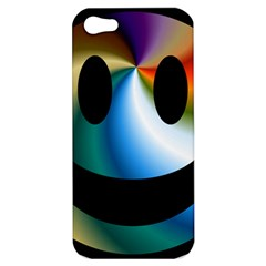 Simple Smiley In Color Apple Iphone 5 Hardshell Case by Nexatart