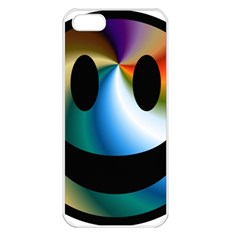 Simple Smiley In Color Apple Iphone 5 Seamless Case (white) by Nexatart