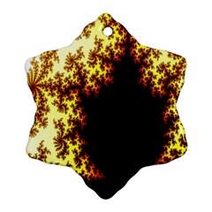 A Fractal Image Ornament (snowflake) by Nexatart