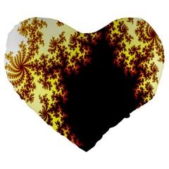 A Fractal Image Large 19  Premium Heart Shape Cushions by Nexatart