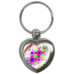 Color Ball Sphere With Color Dots Key Chains (heart)  by Nexatart