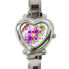Color Ball Sphere With Color Dots Heart Italian Charm Watch by Nexatart