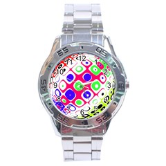 Color Ball Sphere With Color Dots Stainless Steel Analogue Watch by Nexatart