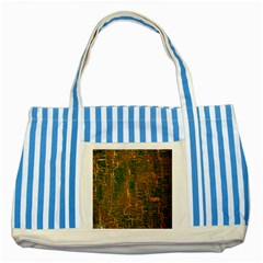 Black And Yellow Color Striped Blue Tote Bag