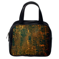 Black And Yellow Color Classic Handbags (one Side) by Nexatart