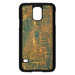 Black And Yellow Color Samsung Galaxy S5 Case (black) by Nexatart