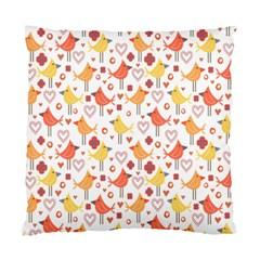 Happy Birds Seamless Pattern Animal Birds Pattern Standard Cushion Case (one Side) by Nexatart
