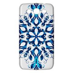 Blue Snowflake On Black Background Samsung Galaxy Mega 5 8 I9152 Hardshell Case  by Nexatart