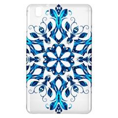 Blue Snowflake On Black Background Samsung Galaxy Tab Pro 8 4 Hardshell Case by Nexatart