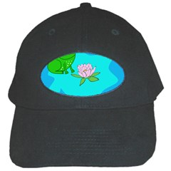 Frog Flower Lilypad Lily Pad Water Black Cap by Nexatart