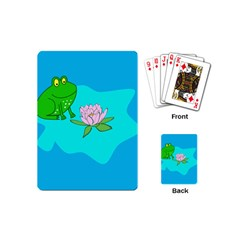 Frog Flower Lilypad Lily Pad Water Playing Cards (mini)  by Nexatart