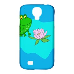 Frog Flower Lilypad Lily Pad Water Samsung Galaxy S4 Classic Hardshell Case (pc+silicone) by Nexatart