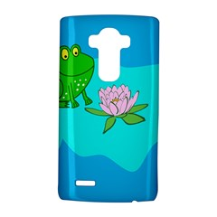 Frog Flower Lilypad Lily Pad Water Lg G4 Hardshell Case by Nexatart