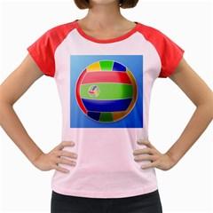 Balloon Volleyball Ball Sport Women s Cap Sleeve T Shirt by Nexatart