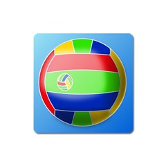 Balloon Volleyball Ball Sport Square Magnet by Nexatart