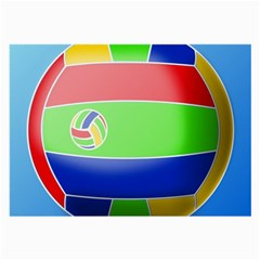 Balloon Volleyball Ball Sport Large Glasses Cloth (2 Side) by Nexatart