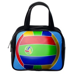 Balloon Volleyball Ball Sport Classic Handbags (one Side) by Nexatart