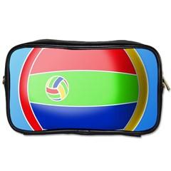 Balloon Volleyball Ball Sport Toiletries Bags 2 Side by Nexatart