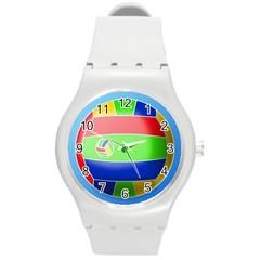 Balloon Volleyball Ball Sport Round Plastic Sport Watch (m) by Nexatart