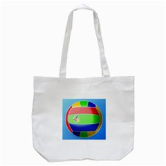 Balloon Volleyball Ball Sport Tote Bag (white) by Nexatart