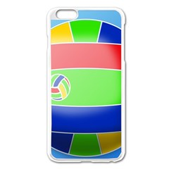 Balloon Volleyball Ball Sport Apple Iphone 6 Plus/6s Plus Enamel White Case by Nexatart