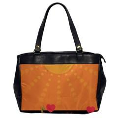 Love Heart Valentine Sun Flowers Office Handbags by Nexatart