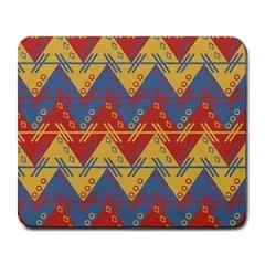 Aztec South American Pattern Zig Zag Large Mousepads by Nexatart