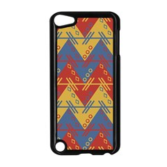 Aztec South American Pattern Zig Zag Apple Ipod Touch 5 Case (black) by Nexatart