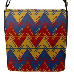 Aztec South American Pattern Zig Zag Flap Messenger Bag (s) by Nexatart