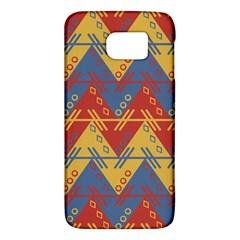 Aztec South American Pattern Zig Zag Galaxy S6 by Nexatart