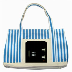 Safe Vault Strong Box Lock Safety Striped Blue Tote Bag by Nexatart