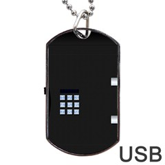 Safe Vault Strong Box Lock Safety Dog Tag Usb Flash (one Side) by Nexatart