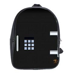 Safe Vault Strong Box Lock Safety School Bags (xl)  by Nexatart