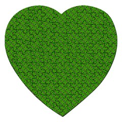 Paper Pattern Green Scrapbooking Jigsaw Puzzle (heart) by Nexatart