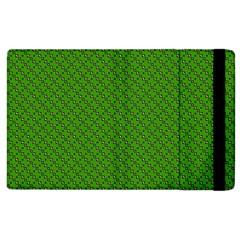 Paper Pattern Green Scrapbooking Apple Ipad 2 Flip Case by Nexatart