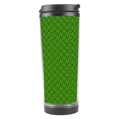 Paper Pattern Green Scrapbooking Travel Tumbler