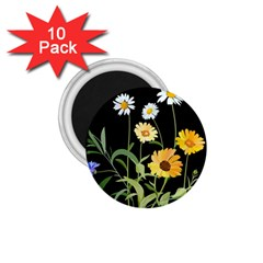 Flowers Of The Field 1 75  Magnets (10 Pack)  by Nexatart