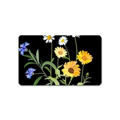 Flowers Of The Field Magnet (name Card) by Nexatart